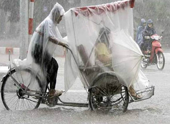 Imagenes curiosas, impermeable completo
